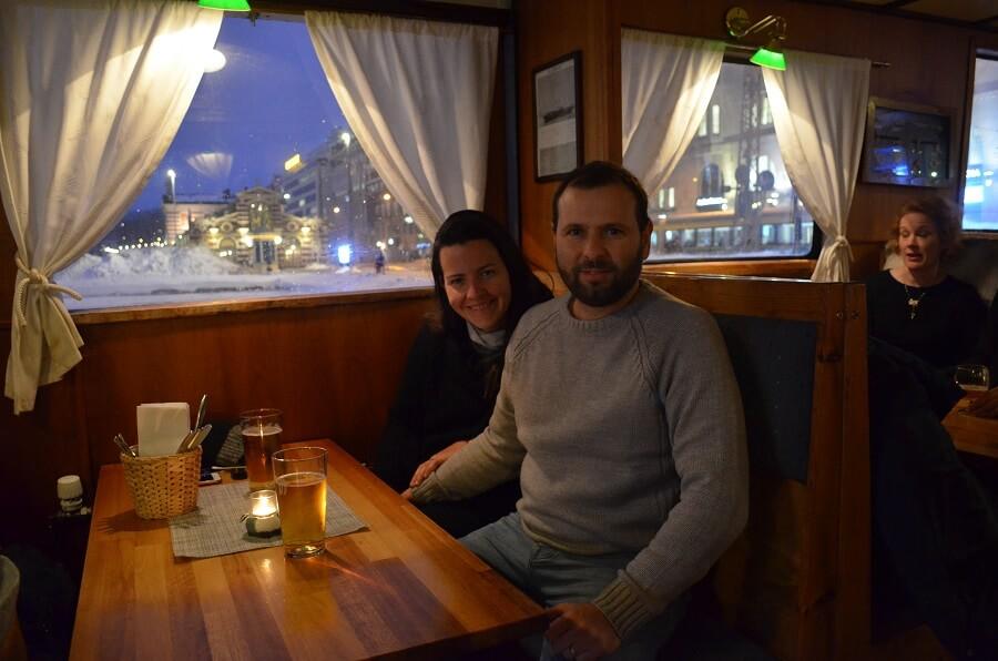 Priscila y Christian Gutiérrez en Helsinki