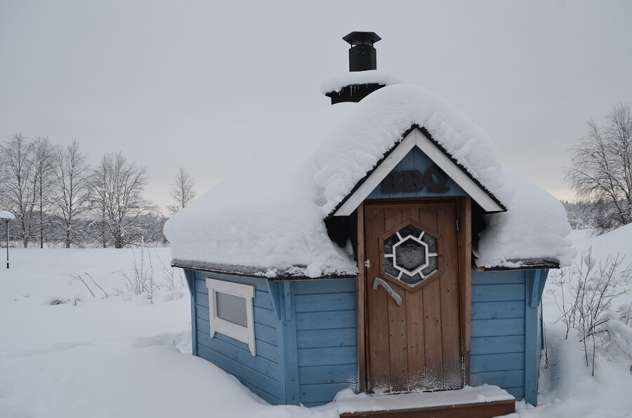 Churrasco na neve