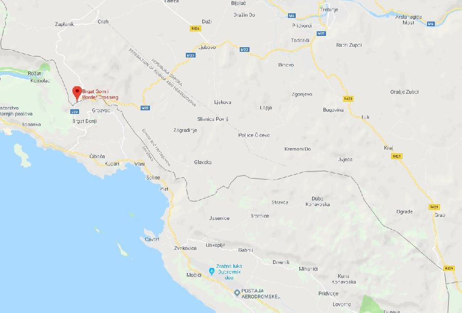 cruzar a fronteira de carro entre a Croácia e a Bosnia e Herzegovina