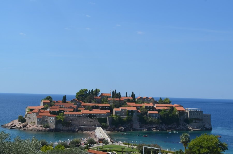 Sveti Stefan, beaches and the old medieval city of Montenegro