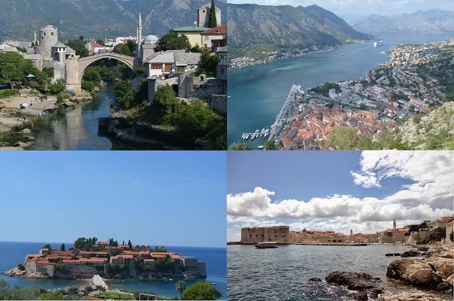 Roteiro pela Croácia, Bósnia e Montenegro