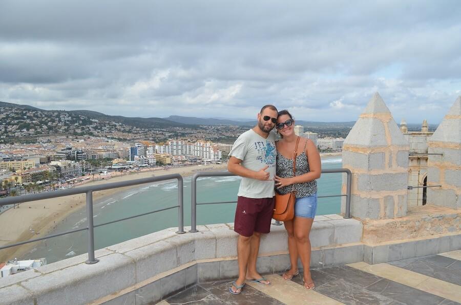Christian Gutierrez and Priscilla Gutierrez in the city of Peñiscola