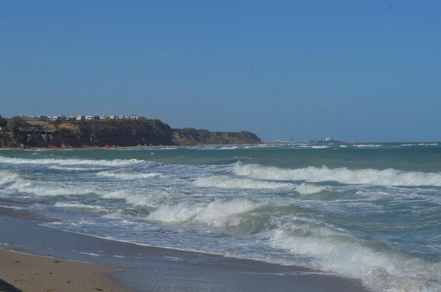 praia de La Baldachine, que também é conhecida como Praia de Vama Veche