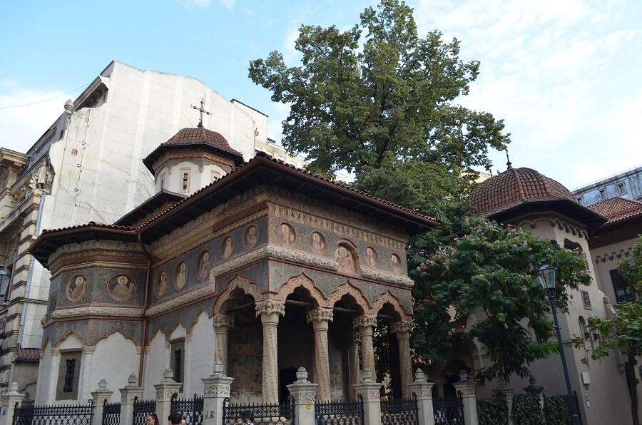 Stavropoleosin luostarin kirkko, Bukarest Romaniassa
