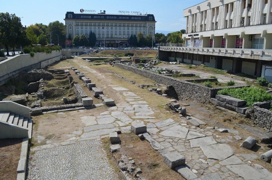 Ruínas Romanas em Plovdiv