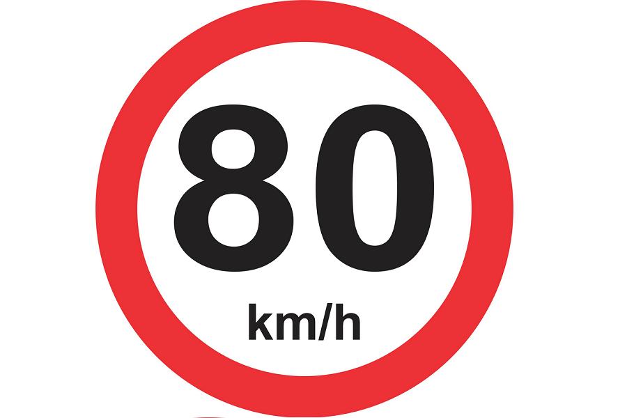 Placa de velocitat amb autocaravana i autocaravana