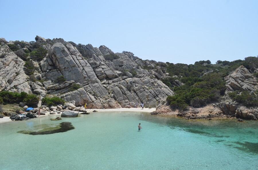 Cala Napoletana on Capreran saarella